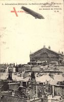 Paris, Aérostation Militaire, Ballon dirigéable Patrie, Opéra, Zeppelin