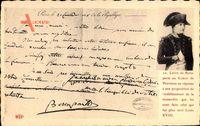 Napoleon Bonaparte, Brief an Monarchen zur Restauration