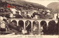 Saint Claude Jura, Le Viaduc, Viadukt, Totalansicht, Ort
