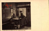 Mädchen und Frau aus der Niederlausitz, Spreewälder Trachten