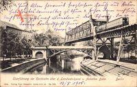 Berlin Kreuzberg, Überführung d. Hochbahn über Landwehrkanal u. Anhalter Bahn