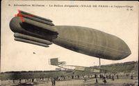 Aérostation Militaire, Ballon dirigéable, Ville de Paris, Zeppelin