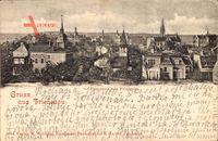Berlin Schöneberg Friedenau, Panorama, Glockenturm, Straßen, Häuser