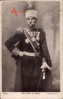 König Peter I. von Jugoslawien, Serbien, Uniform, Mütze, Säbel