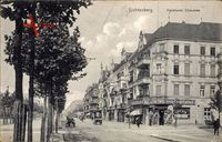 Berlin Lichtenberg, Die Frankfurter Chaussee mit Geschäften