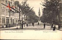 Berlin Steglitz Lichterfelde, Verlängerte Wilhelmstraße mit Anwohnern