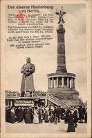 Berlin Tiergarten, Der eiserne Hindenburg mit Siegessäule