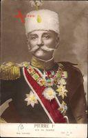 König Peter I. Karadjordjevic von Jugoslawien, Serbien, Portrait, Hut,Uniform