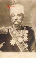 König Peter I. Karadjordjevic von Jugoslawien, Serbien, Portrait, Orden