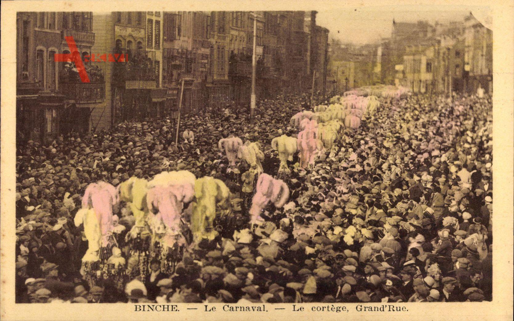 Binche Wallonien Hennegau, Le Carnaval, Le cortège, Grand'Rue
