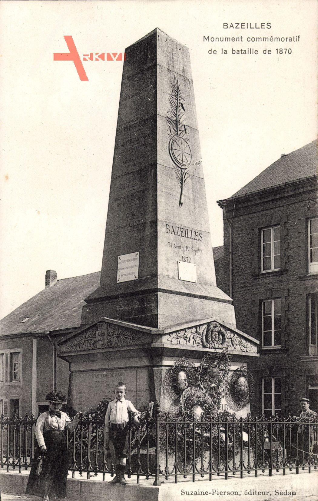 Bazeilles Ardennes, Monument commémoratif de la bataille de 1870