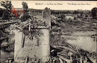 Œuilly Aisne, Le Pont sur l'Aisne, Zerstörte Brücke, Erster Weltkrieg