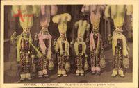 Binche Wallonien Hennegau, Le Carnaval, Un groupe de Gilles en grande tenue
