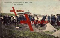 Wahn Köln, Französische Kriegsgefangene beim Barackenbau, Soldaten
