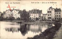 Berlin Lichtenberg Karlshorst, Partie am See, Blick a.d. Rödelstraße