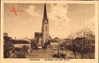 Oberhausen am Rhein Nordrhein Westfalen, Marktplatz mit Katholischer Kirche