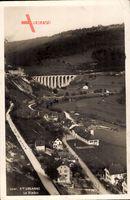 St. Ursanne Kt. Jura, Le Viaduc, Viadukt aus der Vogelschau, Ort