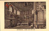 Mehrerau Bregenz Vorarlberg, Kirche vom Chor aus, Orgel