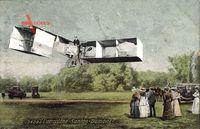 L'Aéroplane Santos Dumont, Biplan, Flugzeug, Zuschauer