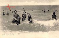 Groupe de Baigneurs, Badegäste am Strand, Familie, Frauenbad