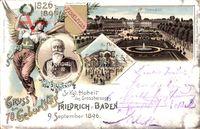 Wappen Karlsruhe, 70. Geburtstag Friedrich v. Baden 9. September 1896