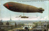 Paris, Dirigéable, Clément Bayard au dessus de la Ville, Zeppelin