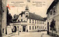 Rastenberg Thüringen, Hotel Barbarossa, Straßenpartie, Lichtspielhaus