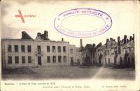 Bazeilles Ardennes, L'Hôtel de Ville, incendié en 1870, Zerstörtes Rathaus
