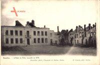 Bazeilles Ardennes, L'Hôtel de Ville, encendié en 1870, Zerstörtes Rathaus
