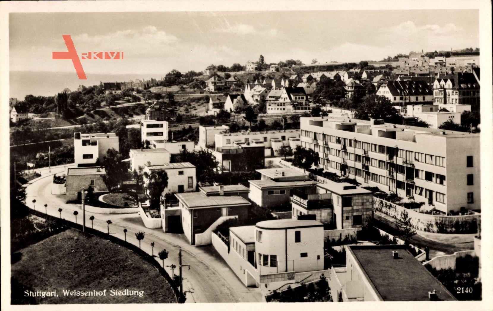 Stuttgart in Baden Württemberg, Blick auf die Weissenhof Siedlung
