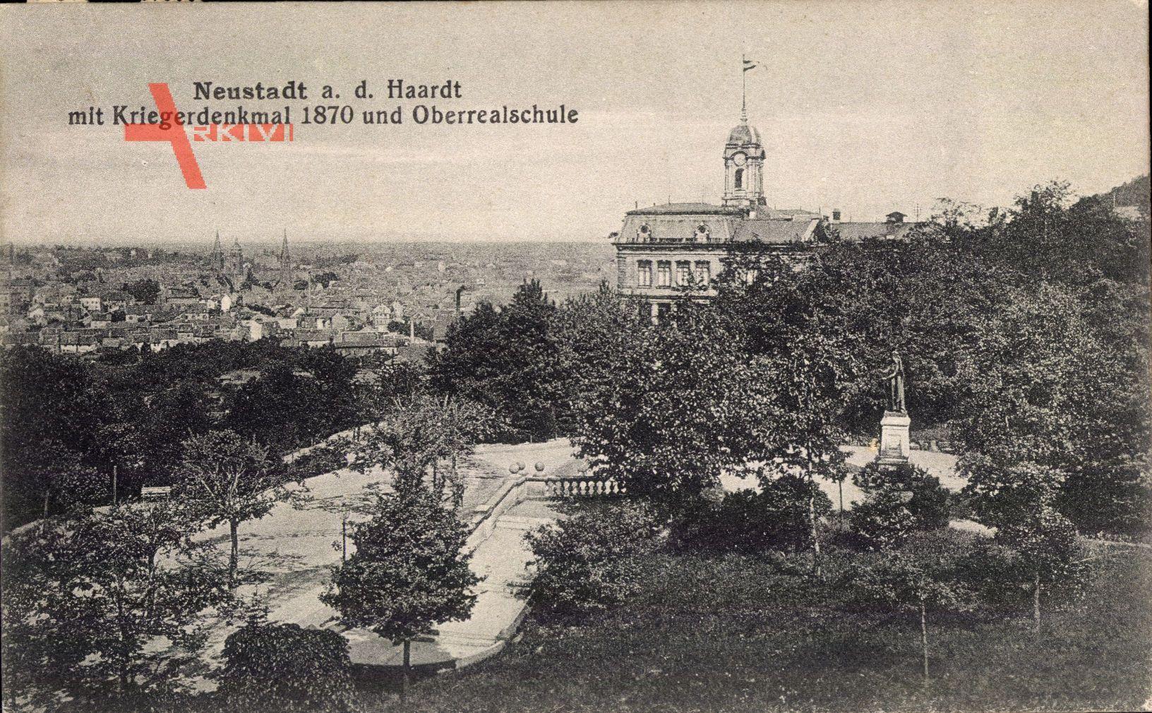 Neustadt an der Weinstraße, Kriegerdenkmal 1870 und Oberrealschule
