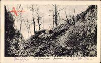 Argonnen 1915, Erster Weltkrieg, Frankreich, Blindgänger, Projektil