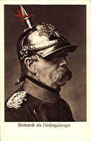 Fürst Otto von Bismarck, Portrait, Pickelhaube, Fünfzigjähriger