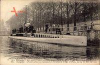 Französisches U Boot, Montgolfier, Sous Marin, Pont de la Concorde, Paris