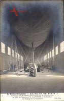 Le Ballon Dirigéable La Ville de Paris, Franz. Zeppelin, Henry Deutsch,Hangar