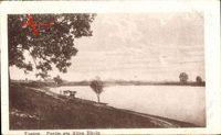 Xanten am Niederrhein, Blick vom Ufer auf den See