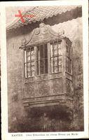 Xanten am Niederrhein, Altes Erkerchen an einem Hause am Markt