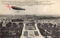 Paris, Zeppelin über der Stadt, Promenade, Dirigéable au dessus