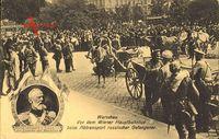 Warszawa Warschau Polen, Prinz Leopold v. Bayern vor dem Hauptbahnhof