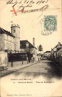 Charly sur Marne Aisne, Route de Ruvet, Tour de Napoleon I, Häuser, Straße