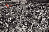 Porrentruy Pruntrut Kt. Jura, Fliegeraufnahme der Stadt