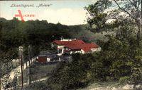 Radebeul, Partie im Lössnitzgrund mit Blick auf die Meierei, Straße