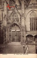 Xanten am Niederrhein, St. Victor Dom, Südportal, Fensterrose, Fassade