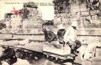 Volubilis Marokko, Kriegsgefangene bei der Arbeit in römischen Ausgrabungen