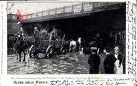 Berlin Wedding, Überschwemmung unter der Ringbahn, Müllerstraße