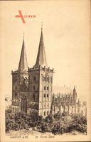 Xanten Rhein, Blick auf den St Victor Dom, gotischer Baustil