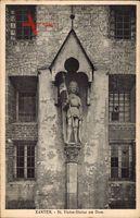 Xanten, Blick auf die St Victor Statue am Dom
