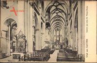 Xanten, Inneres aus dem St Victor Dom, Bänke und Altar
