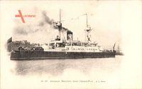 Brasilianisches Kriegsschiff, Croiseur Brésilien dans l'Avant Port