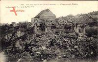 Chavonne Aisne, Ruines, Stadt in Trümmern, Erster Weltkrieg